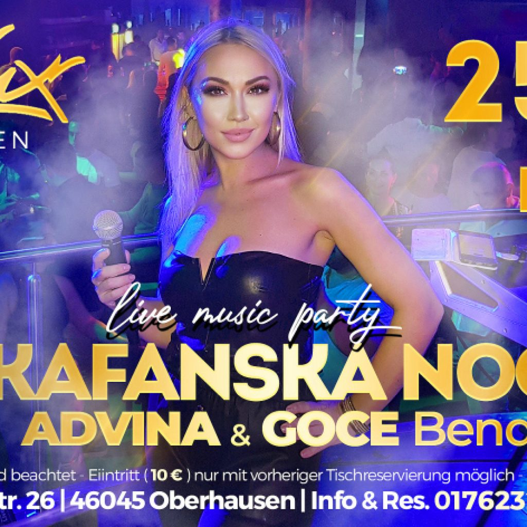 25.09. Kafanska Noc Oberhausen – Advina & Goce